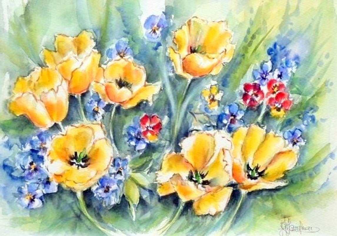 Images gm fleurs et natures mortes for Bouquet de fleurs jaunes